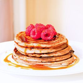 Lactose-free strawberry pancakes