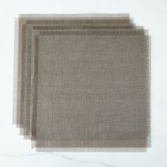 Metallic Fringed Placemats (Sets of 4)
