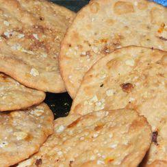 Choco-Oats Puris (Indian fried flat bread)