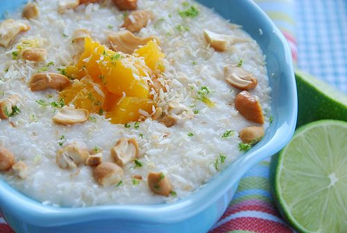 Coconut and Lime Rice Pudding with Mangoes and Cashews ...