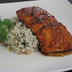 Sesame-Sake Salmon