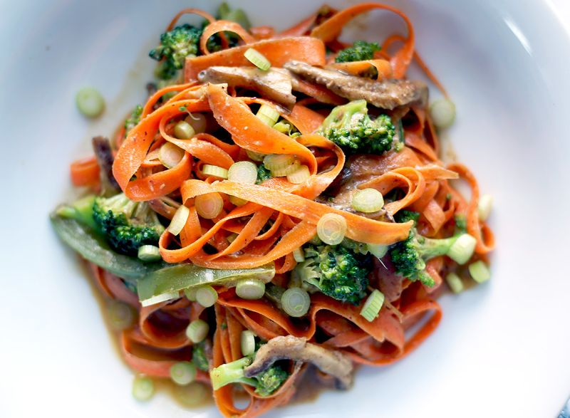 Spicy Thai Carrot Noodles