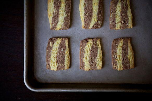 Cardamom, Orange and Chocolate Ribbon Cookies