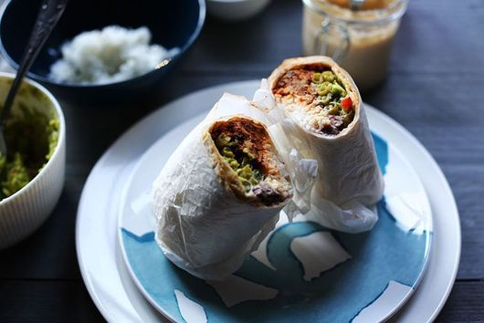 Tempting Vegan Tempeh burrito