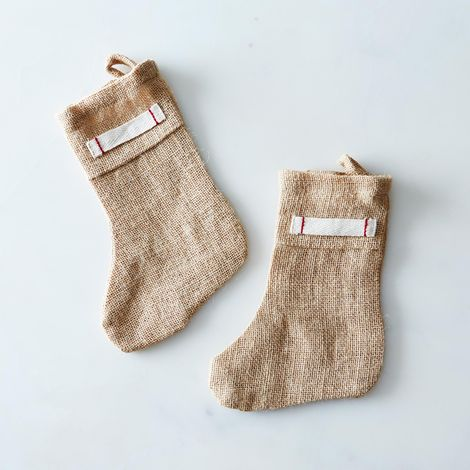 Burlap Mini Stocking (Set of 2)