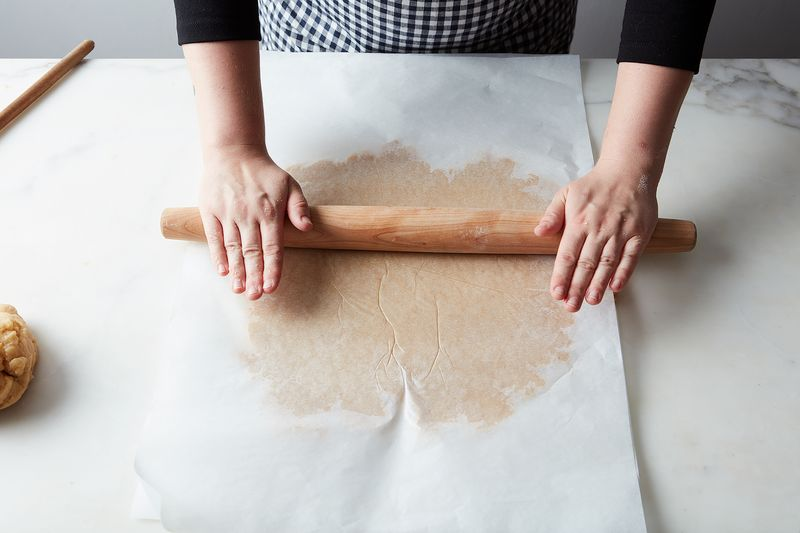 Parchment paper makes for easy rolling.