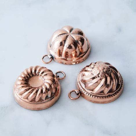 Vintage Copper Chocolate Moulds, Late 19th Century (Set of 3)