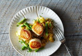 Dale Talde's Grilled Scallops with XO-Pineapple Fried Rice