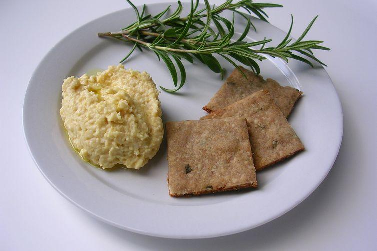 Buckwheat Rosemary Crackers