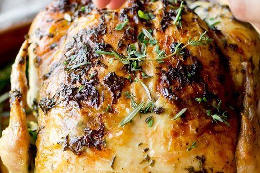 Garlic Herb Butter Roasted Chicken