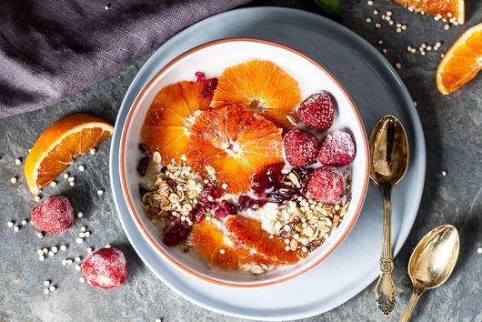 Blood Orange Overnight Oats