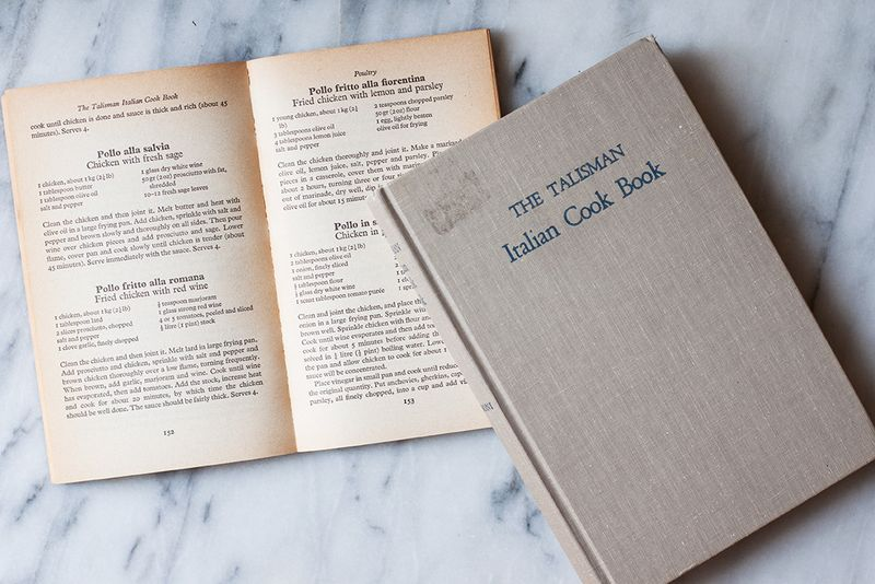 "Ada Boni's ""The Talisman Italian Cook Book."""
