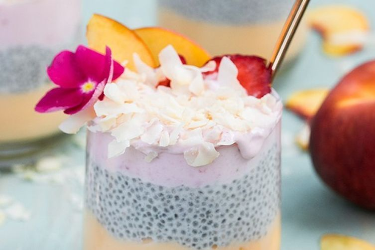 Easy Coconut Chia Seed Pudding Parfait