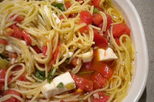 Warm and Spicy Pasta Caprese