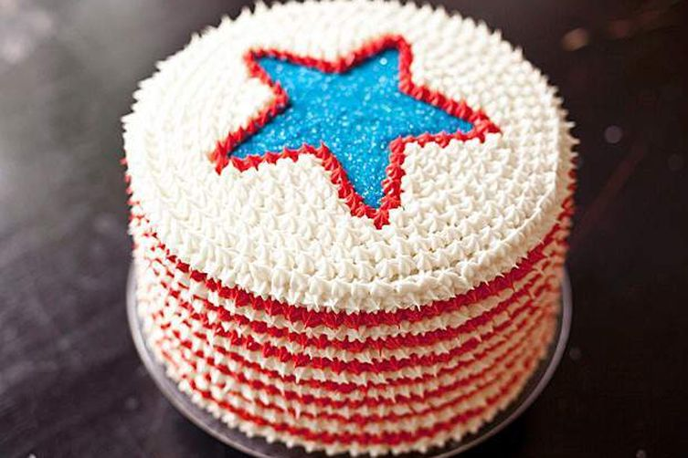 Cake Designs For Matriculation : Best 4th of July Red, White and Blue Velvet Cake Recipe on ...