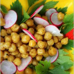 Spiced Chickpeas with Crispy Radishes and Fresh Herbs