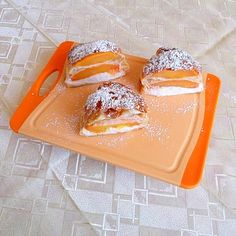 Vanilla-Roasted Peaches and Mascarpone Cream Napoleon