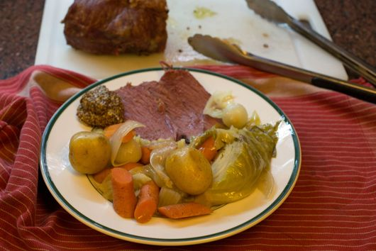 Corned Beef and Cabbage Dinner for St. Patrick's Day..