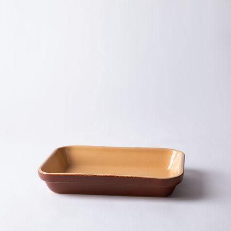 Vintage French Stoneware Rectangular Baking Dish
