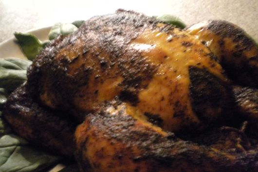 Coffee Rubbed Slow Roasted Chicken