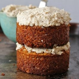 Maple Coconut Mini Cakes w/  Maple Coconut Walnut Cream Frosting