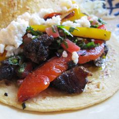 J.R.s Roasty Rib Tacos with Chimichurri Sauce