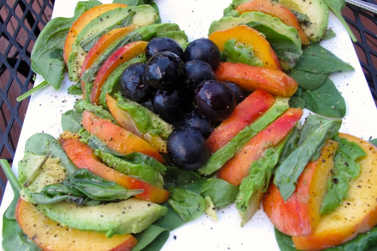 Peach-Avocado Salad with Basil