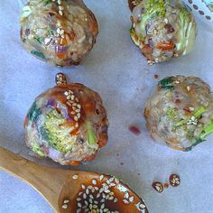 Peanut&Broccoli Rice Balls