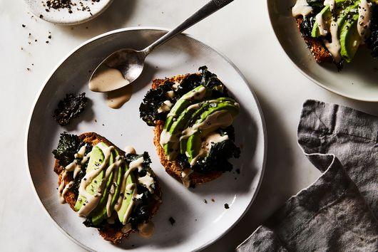 Avocado + Crispy Kale + Tahini + Seasoning Salt Toast