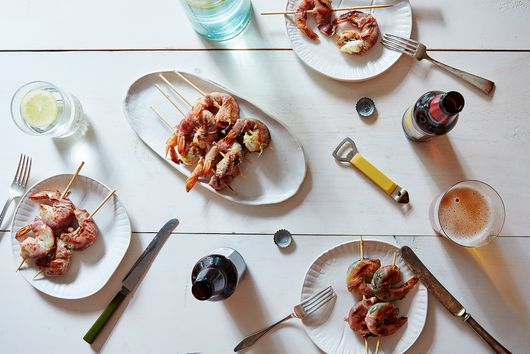 Dinner Tonight: Mint and Prosciutto Grilled Shrimp
