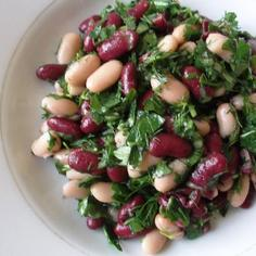 Georgian Herbed Kidney Beans Salad (Lobio Mtsvanilit)