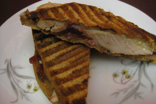 Dark Meat Turkey Panini with Montasio Cheese-Leftover Heaven