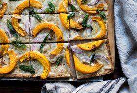 F103dbee bdc0 44c5 a3b1 ec70d41d4fb5  pumpkin flatbread pizza with gruyere and crispy sage gluten free 16 1024x683