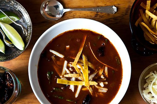 Rick Bayless' Tortilla Soup with Shredded Chard from Food52