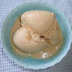 Fresh Peach and Vanilla Bean Custard Ice Cream