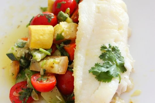 Hogfish with Summer Veggie Ratatouille