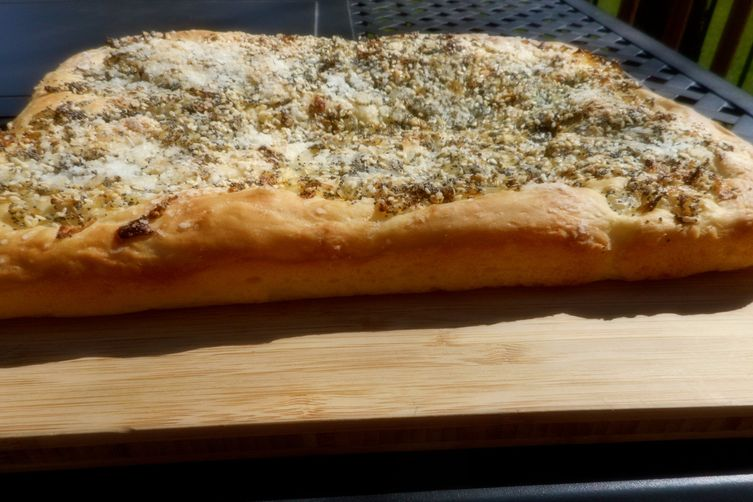 """Everything"" Pletzel (Onion Board Bread)"