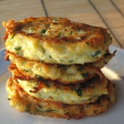 Young Zucchini-Farmer Cheese or Ricotta Pancakes