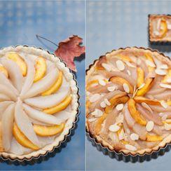 Amaretto Peach and Pear Pie