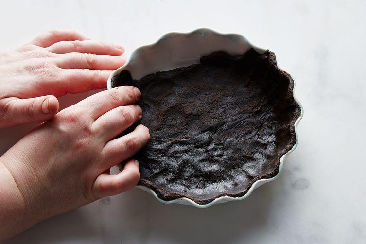 Baby Chocolate Strawberry Cream Pie