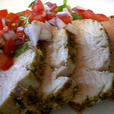Southwestern Grilled Pork Tenderloin with Salsa Fresca