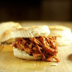 Barbecue Pulled Pork Biscuit Sandwiches