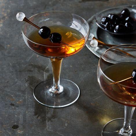 Crystal & Gold Cocktail Picks (Set of 4)