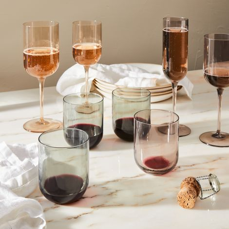 Tinted Modern Wine Glasses (Set of 4)