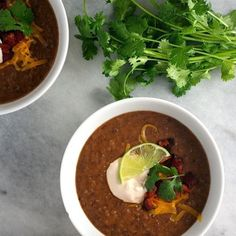 Black Bean Soup with Spicy Chipotle Crema