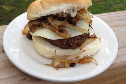Double Mushroom Mesquite Burger