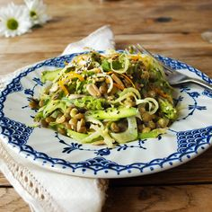 Asparagus & Fennel Lentil Salad with Orange Tahini Dressing