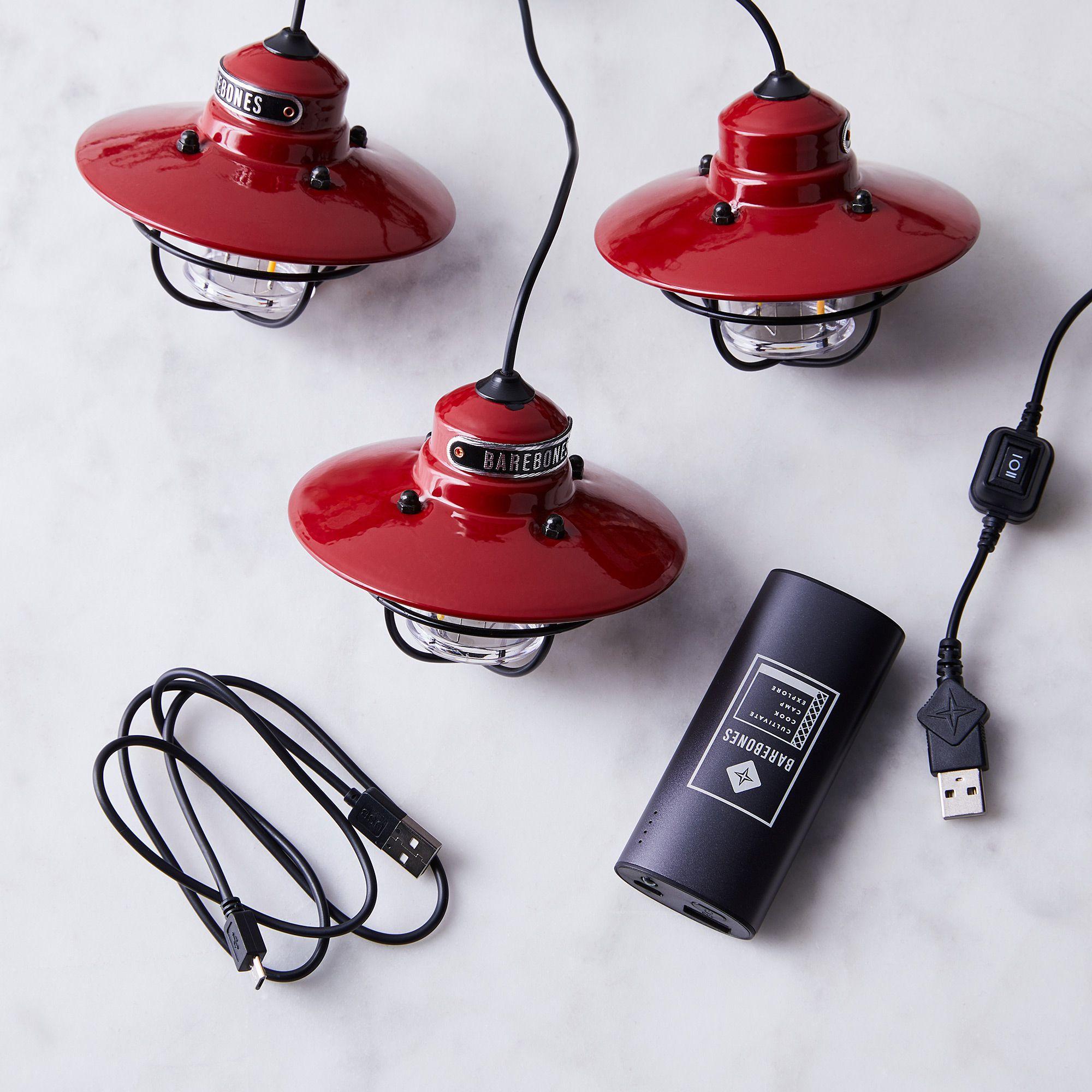 Barebones Livingbarebones Living Edison String And Pendant Light String Light Portable Charger Red Dailymail