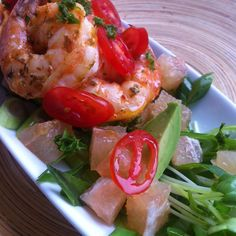 Ancho Roasted Shrimp With Citrus Salad