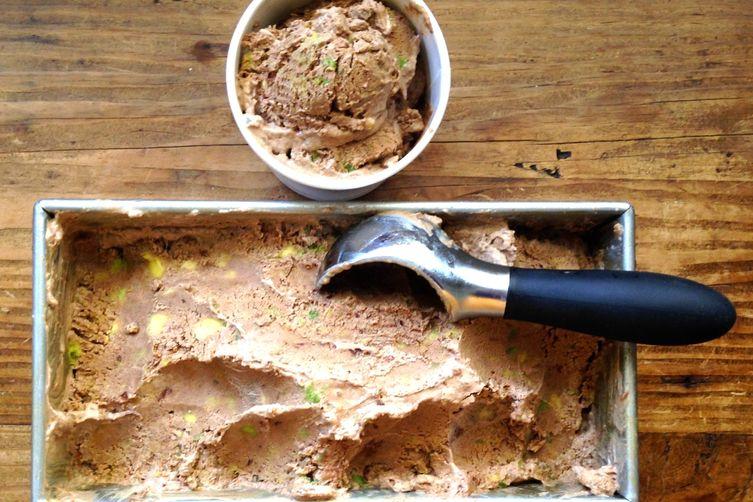 Avocado Chocolate No-Churn Ice Cream